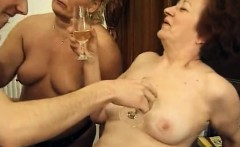 Grannies hairy pussy and boy