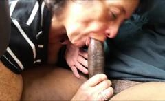 Kinky Grandma Blowing A Black Dick