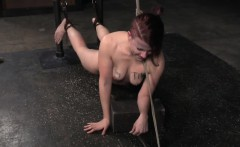 Redhead Roped Sub Enslaved And Punished