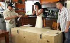 Squirting milf pizza girl the wifey is in ecstasy when she g