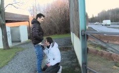 Naked bear fucks gay twink in public Hitch Hikers Love The D