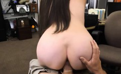 Sexy amateur brunette babe nailed by nasty pawn keeper
