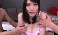 Threesome porn show along insolent Honami Uehara