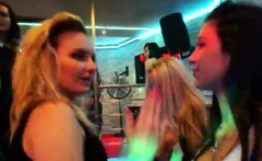wacky chicks get completely delirious and stripped at hardco