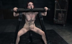 Redhead slave punished hardcore style