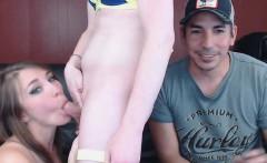 Pretty Girl Enjoys Sucking Tranny Cock
