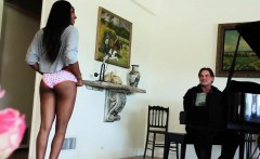 black stepteen pussypounded by the piano
