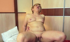 Chubby grandma fucked in various poses