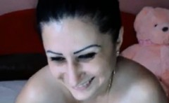 Sexy Busty Big Titty Woman Getting Naked and Showi