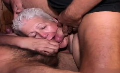 Fat Grandma Sucks Many Cocks