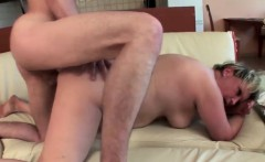 Chubby chaser gets his cock jumped on by babe