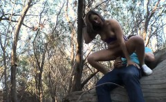 sexy teen babe hitchhikes then gets pounded in the woods