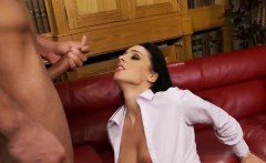 intense blowjob session with a raven haired cutie