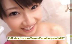 Yuki Aito asian teen nakec babe having fun in the batroom