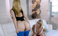 lascivious lesbian roommates seduce each other