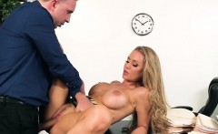 Curvy Secretary Nicole Aniston Gets Pussy Drilled Hard