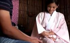 Delightful Japanese masseuse works her skillful hands on a