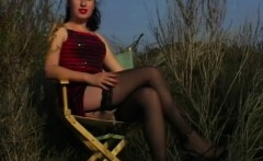 50s styled pussy flashing