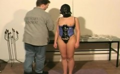 Busty chubby slaves tied up tortured by master