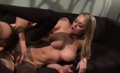 Fantastic blonde gets cum on her tatas