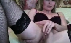 Mature Blonde Her Dildo And Girl