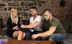 Hot blonde and bi dude getting fucked by experienced guy
