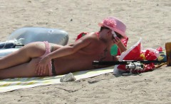 big boobs amateur beach milfs   topless voyeur beach video