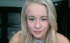 Get Laid With This Horny Natural Blonde Teen On Webcam