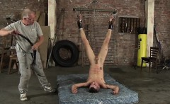 Old dude likes playing with young fresh meat in his dungeon