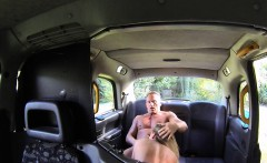 Blonde fake cab driver deep throated and fucked