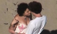 couple in the beach making love