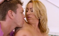 Blonde Cougar Janna Hicks Screws Her Friends Son