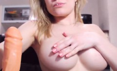 Yummy Blonde Slut Shows Off And Masturbates