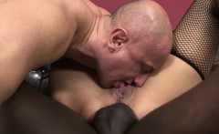 Blonde Interracial Anal Fucked Licking Cum Pussy Drill