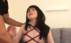 tight asian acquires hairy cunt sucked and fucked in throat