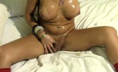 Feminine tranny beauty shows huge dick in closeup and jizzes