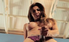 Beautiful Trans Queen Pulling Hard Cock Solo