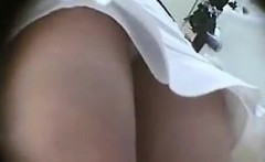 asian upskirt panties caught by voyeur cam