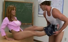Gigantic pantoons chick is being fucked senseless by stud
