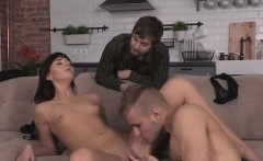 bankrupt bf lets foxy friend to fuck his ex girlfriend for d