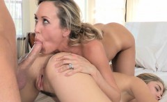 Lia Lor and Brandi Love nasty threesome sex in the bedroom