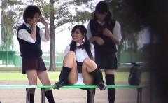 Kinky uniformed teens pee