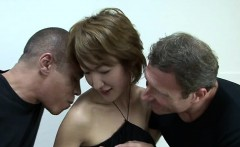 Asian milf with two dicks