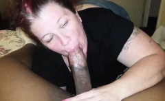 Busty Asian big tit babe gives a pov blowjob