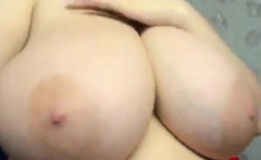 Beautiful big boobs brunette BBW boned