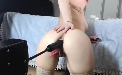 avril hot busty blonde babe anal toying and having orgasm