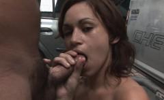 Fuckable cutie licks her lover's pulsating wiener
