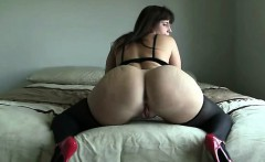 Brunette glamour women in stockings masturbate