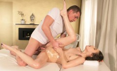 Massage Rooms Ukrainian takes a big cock facial