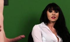 Stockinged british voyeur watching her sub